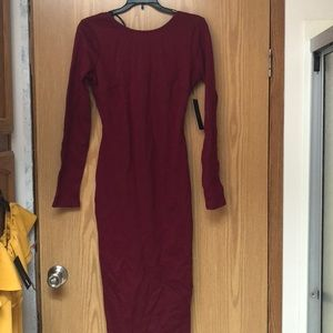 Burgundy Dress from Lulus's
